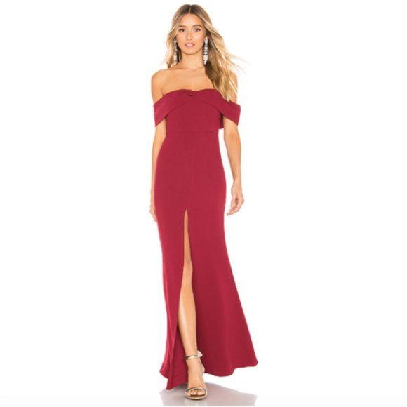 """NWT Lovers + Friends """"Danica"""" Ruby Gown Sz. S"""